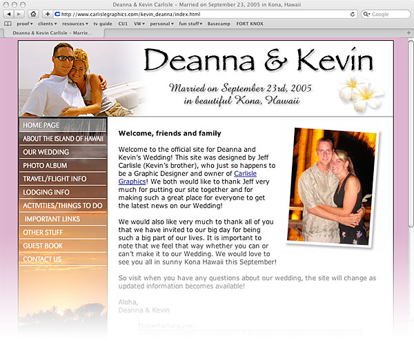 Deanna and Kevin's Wedding